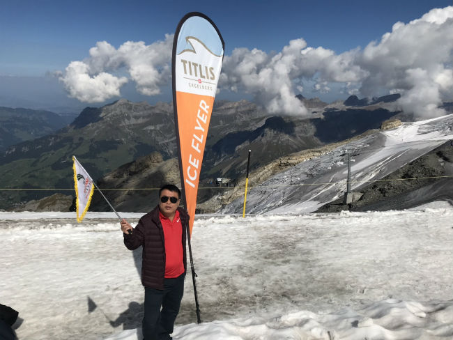 Trên núi Titlis, Thụy Sỹ